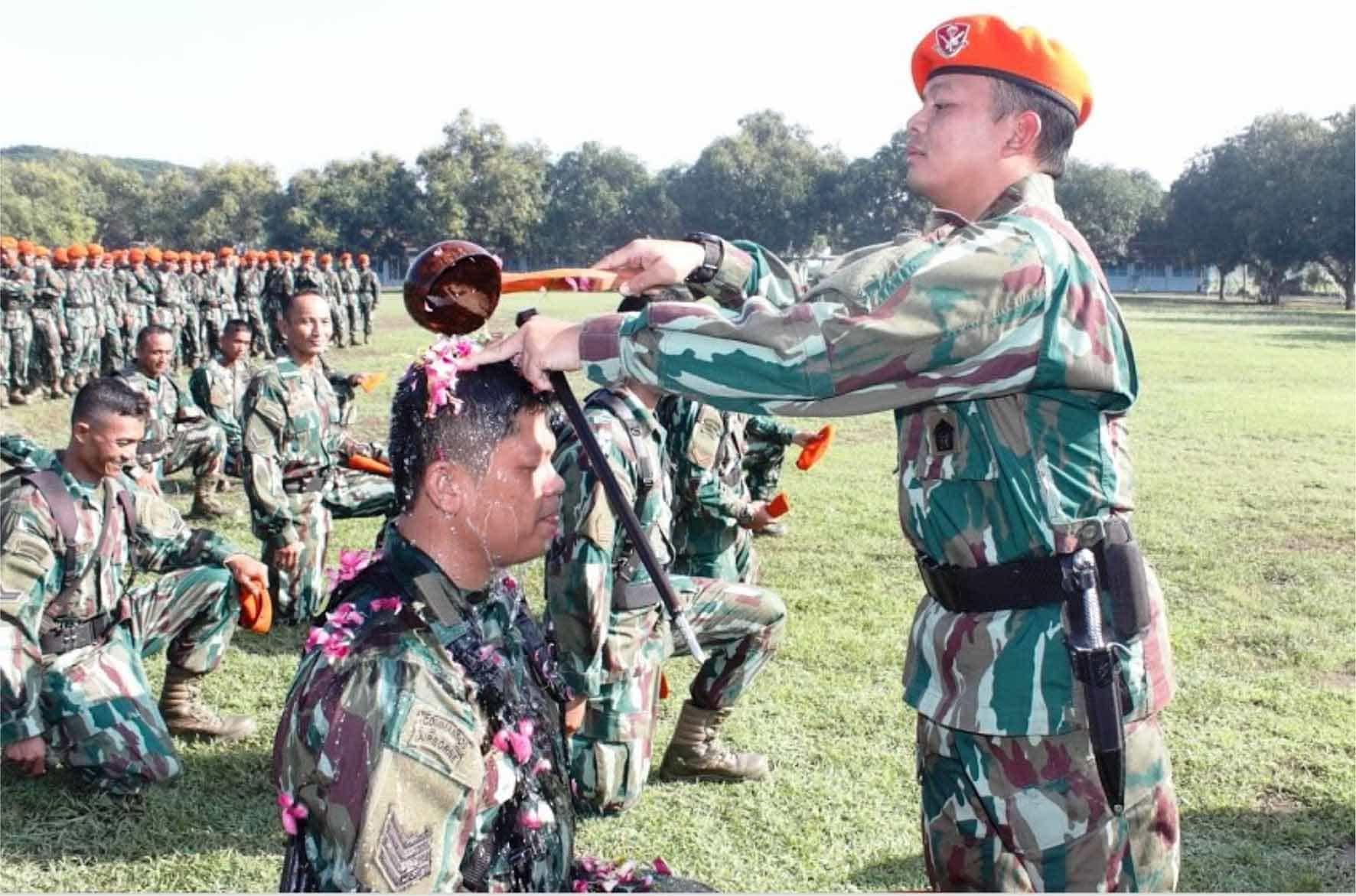 Sebanyak 17 Prajurit Yonko 463 Paskhas Naik Pangkat