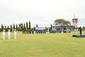 Upacara HUT ke-73 TNI AU di Lanud Pangeran M. Bun Yamin