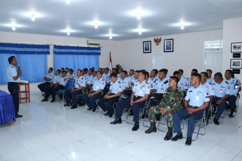 Lanud J. A. Dimara Adakan Sosialisasi Tentang SOP AP TNI AU