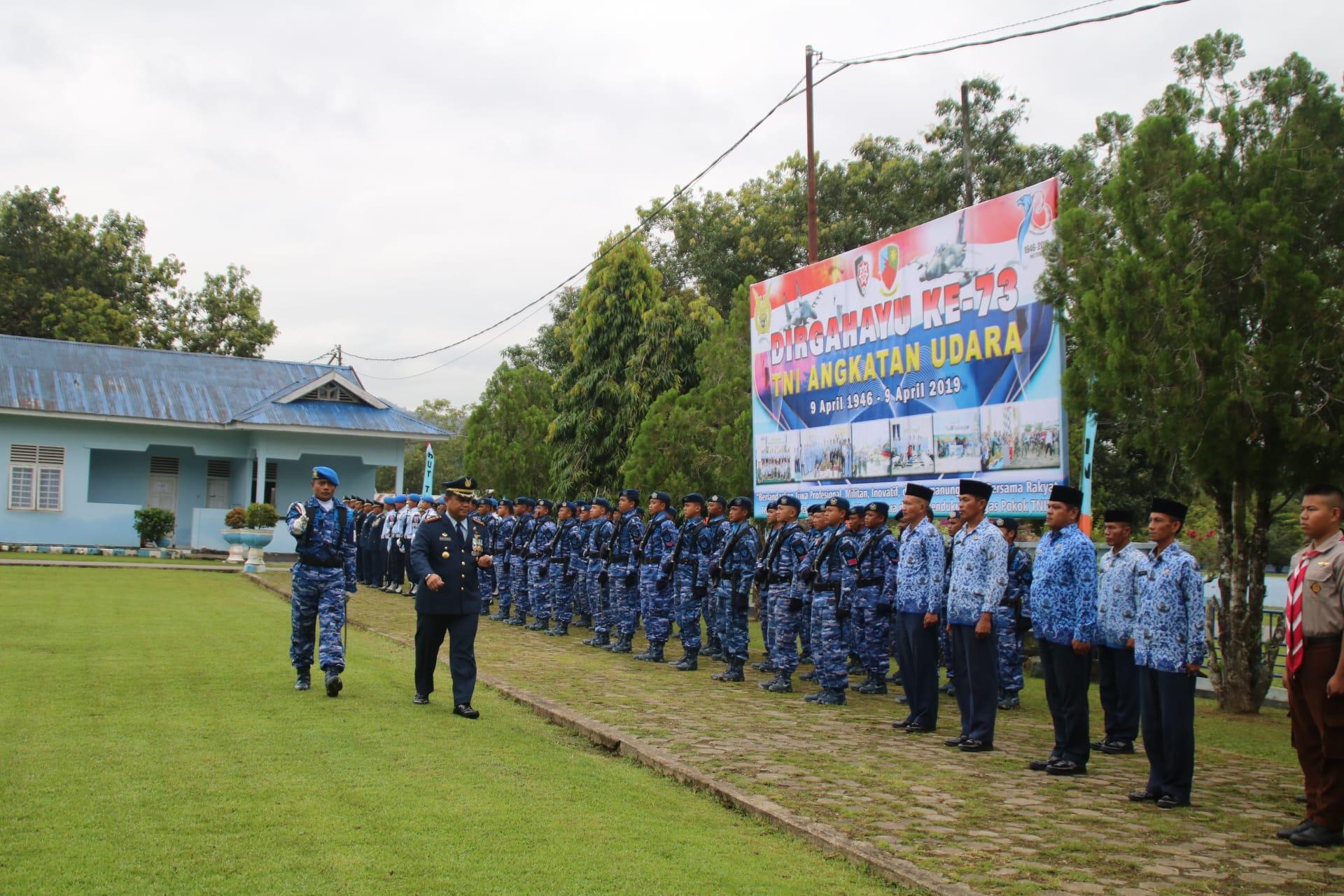 Upacara HUT ke-73 TNI AU berlangsung Sederhana di Lanud Haluoleo