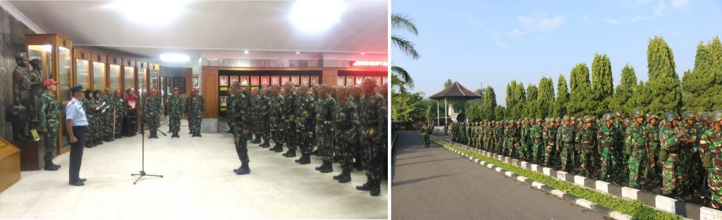 Kepala Muspusdirla Kolonel Sus Drs. Dede Nasrudin saat menerima kunjungan Siswa Setukpa Angkatan 22 Tahun 2019 di Ruang Utama Muspusdirla, Selasa (30/4).