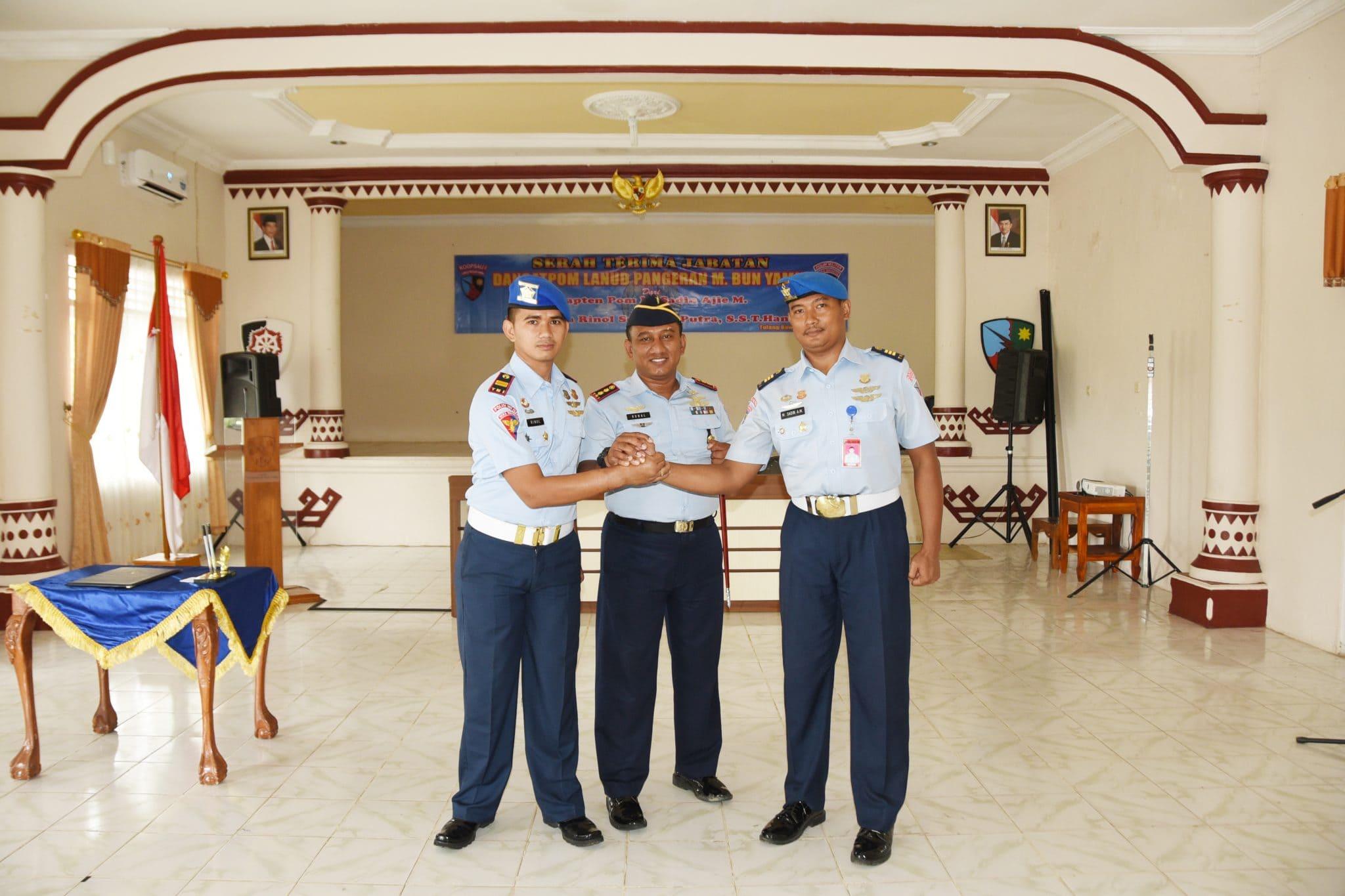 Serah Terima Jabatan Komandan Satpom Lanud Pangeran M. Bun Yamin