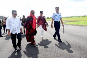 Komandan Lanud Wiriadinata Sambut Kedatangan Menteri Kelautan dan Perikanan