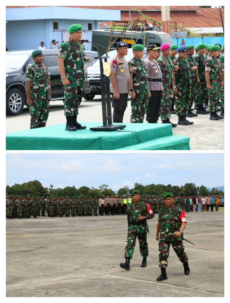 Apel Gelar Pasukan Pam VVIP Kunker RI-1 di Wilayah Papua