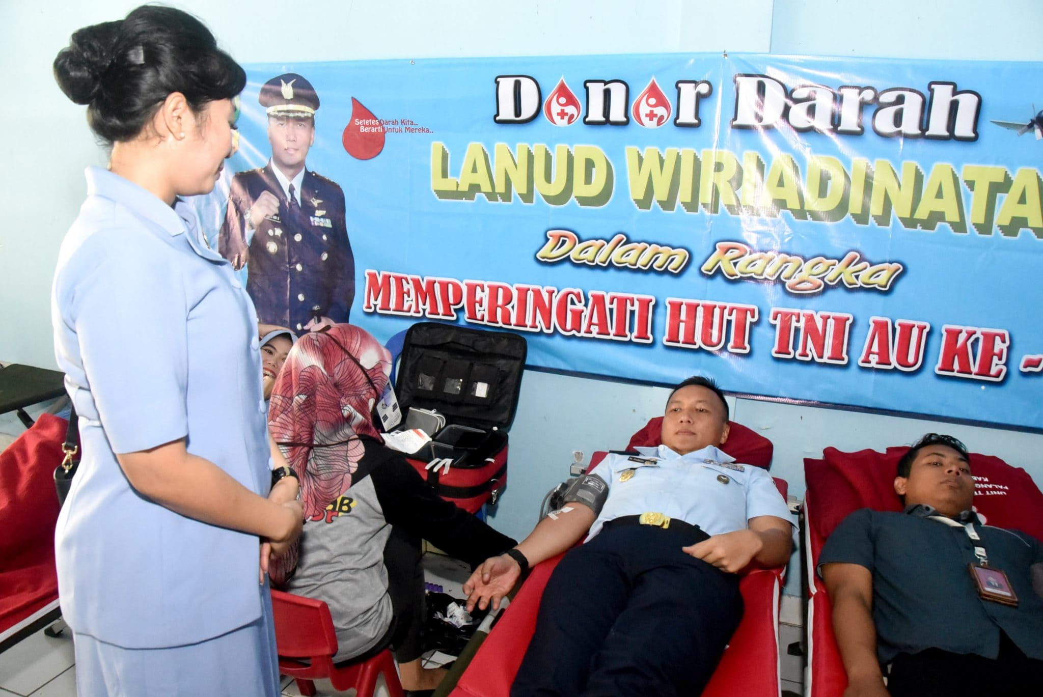 Lanud Wiriadinata Gelar Kegiatan Donor Darah