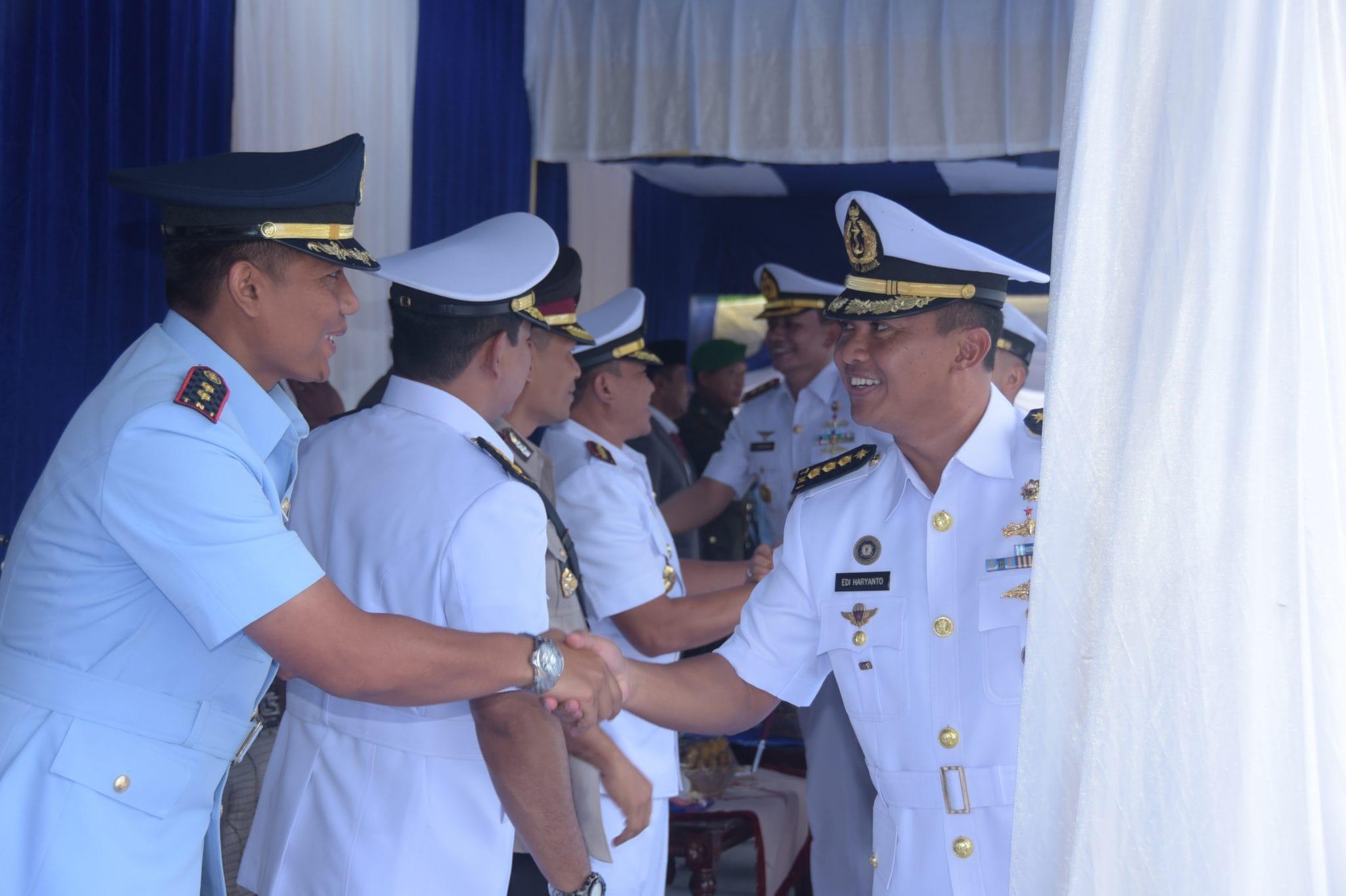 Komandan Lanud maimun Saleh Hadiri sertijab Danlanal Sabang Dan Dasatrol Lantamal I Belawan