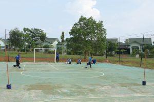 Personel dan PNS Lanud Rhf ikuti Samapta Semester I Tahun 2019
