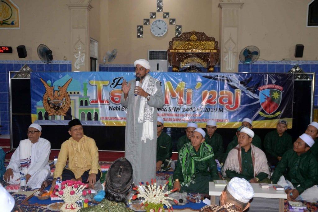 Warga Lanud Sjamsudin NoorPeringati Isra Mi'raj Nabi Muhammad SAW 1440 H/2019 M