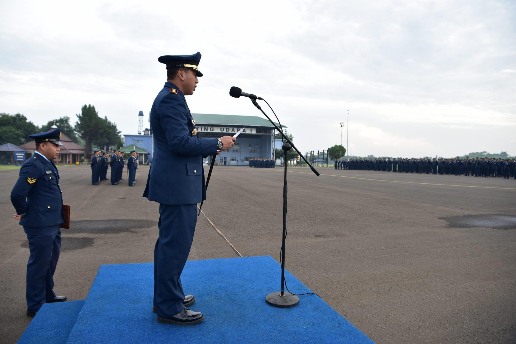 Lanud Halim P Gelar Upacara Peringatan HUT ke-73 TNI Angkatan Udara