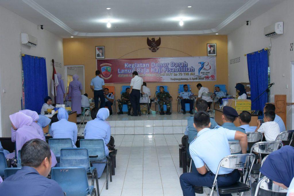 Sambut HUT ke 73 TNI AU, Lanud RHF Gelar Donor Darah
