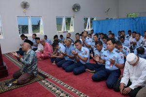 Lanud Rhf Gelar Doa Bersama HUT Ke 73 TNI AU sekaligus Peringati Isra' Mi'raj