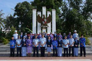 Sambut HUT ke 73 TNI AU, Lanud Raja Haji Fisabilillah Laksanakan Ziarah Rutin