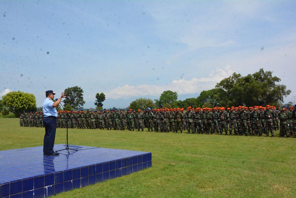Gelar pasukan, Lanud Iswahjudi siagakan 350 prajurit pengamanan Pemilu