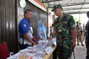 Danlanud Rhf bersama FKPD Kota Tanjungpinang Meninjau Pelaksanaan Pileg dan Pilpres 2019