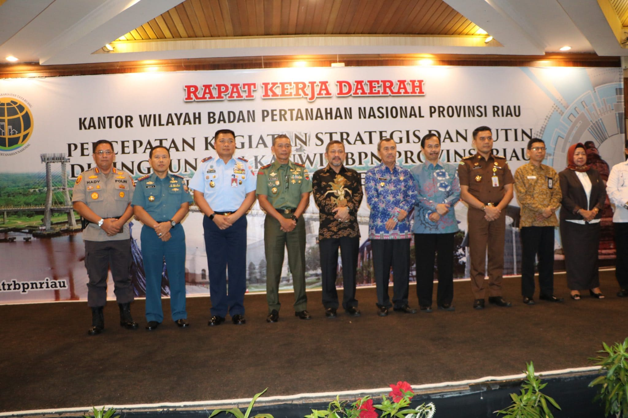 Danlanud Rsn Hadiri Rakerda BPN Prov. Riau