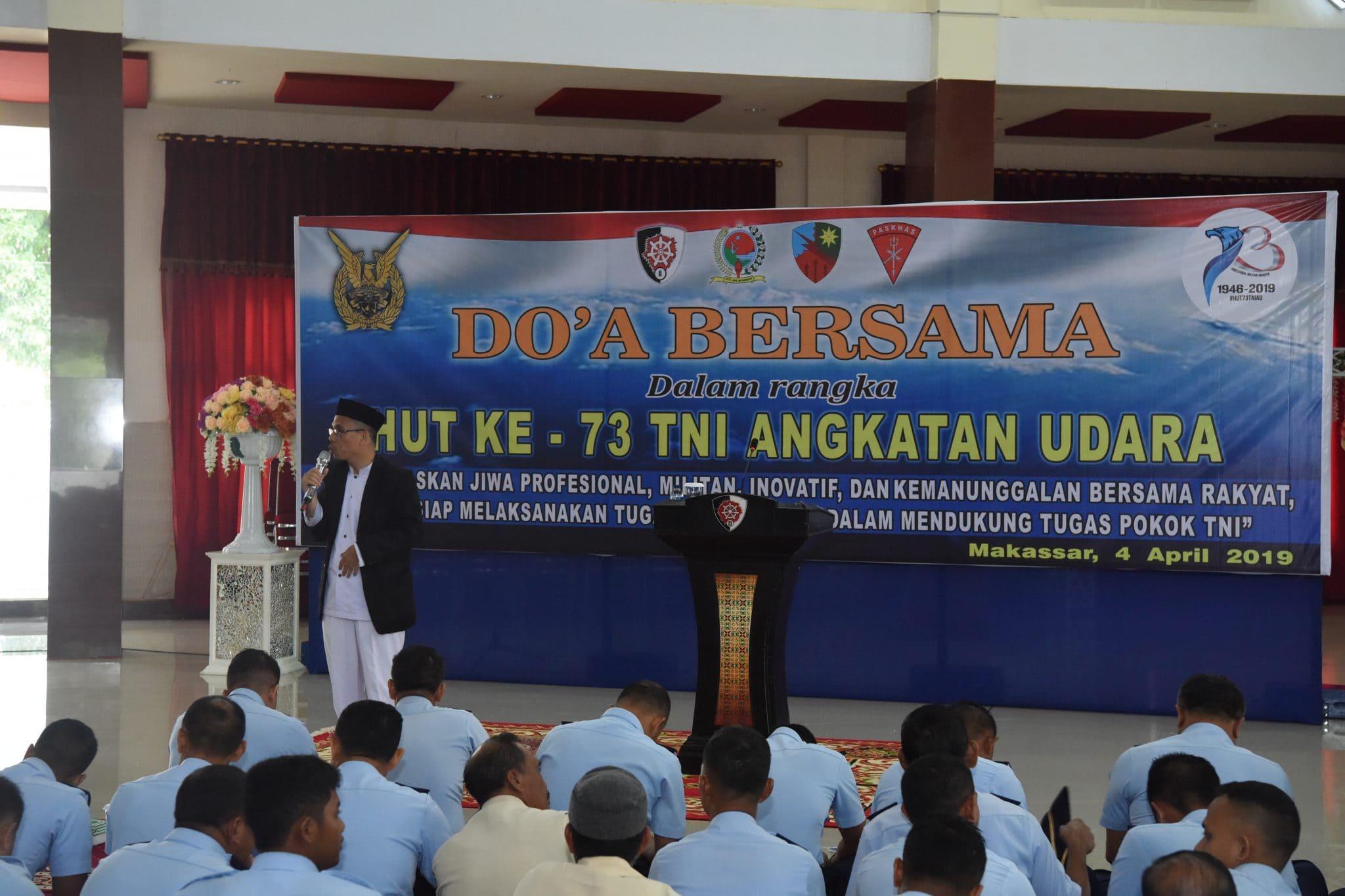 Doa Bersama Dalam Rangka Hut Ke 73 TNI ANGKATAN UDARA
