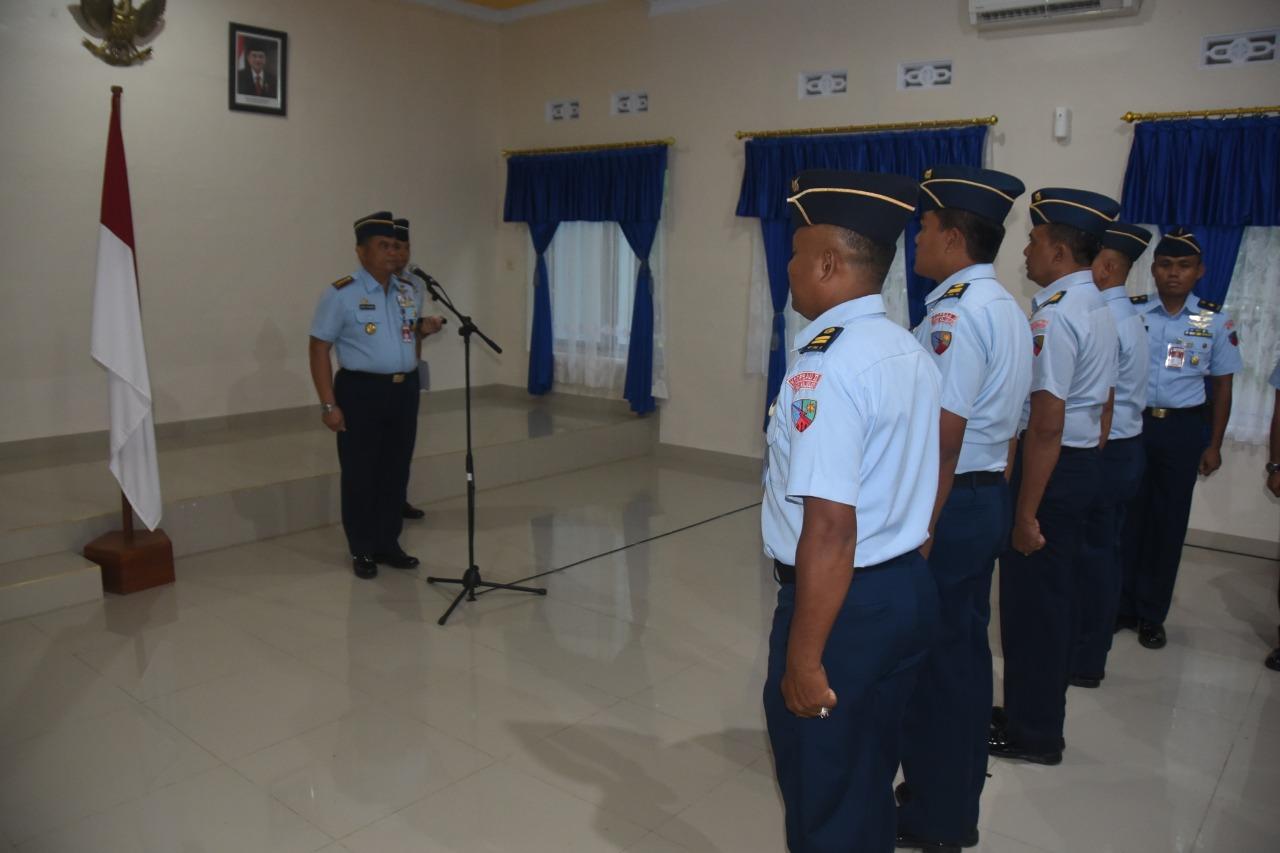 Danlanud Haluoleo menerima Kenaikan Pangkat 4 Perwira Pertama