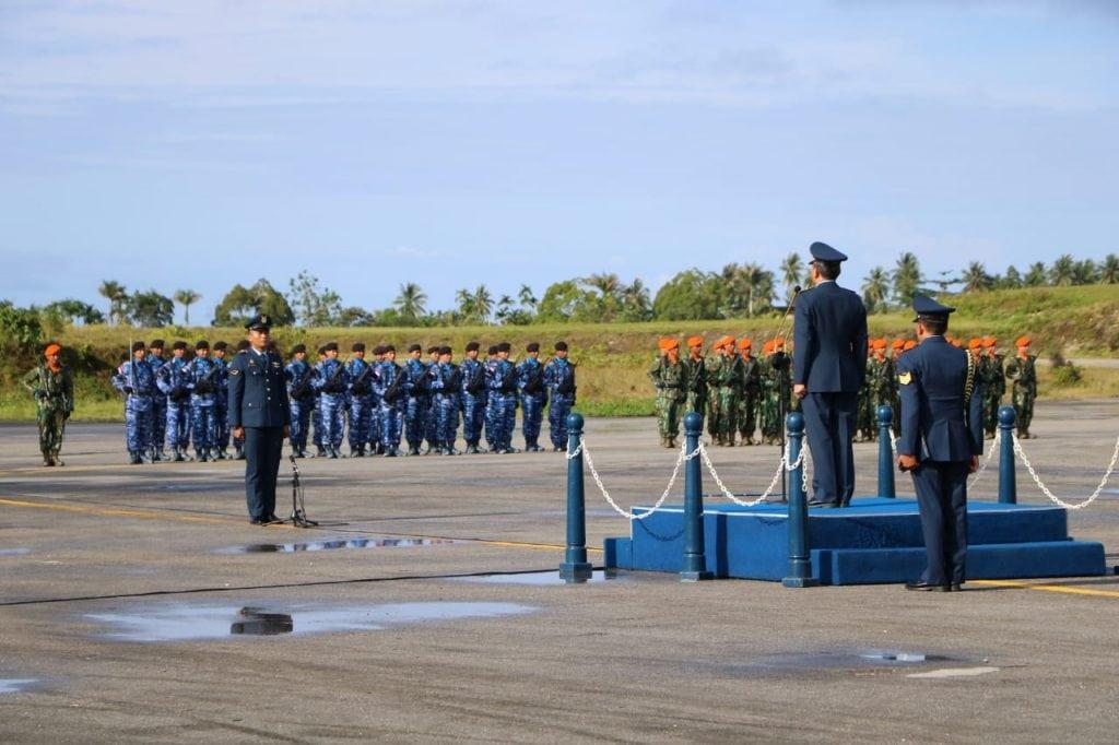 Perayaan HUT ke-73 TNI AU di Biak Numfor, di Apron Manuhua