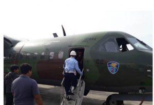Baseops Lanud Dhomber menjadi Lokasi Pengantaran Logistik Pemilu 2019