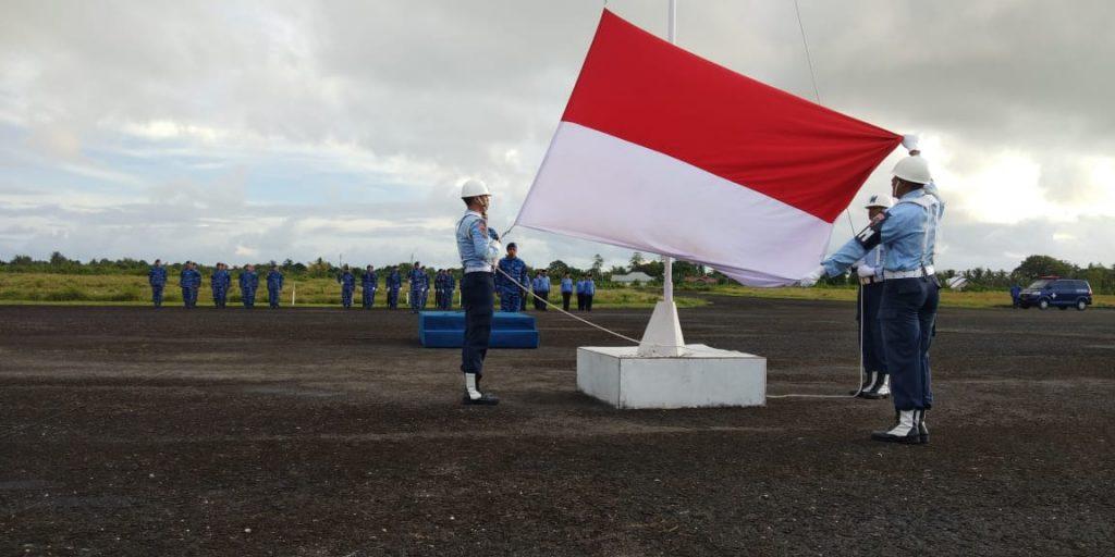 Lanud D. Dumatubun Laksanakan Upacara Bendera 17an Bulan April 2019
