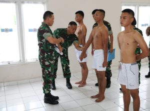 Sidang Pantukhir Daerah Calon Tamtama TNI AU Di Lanud Dhomber