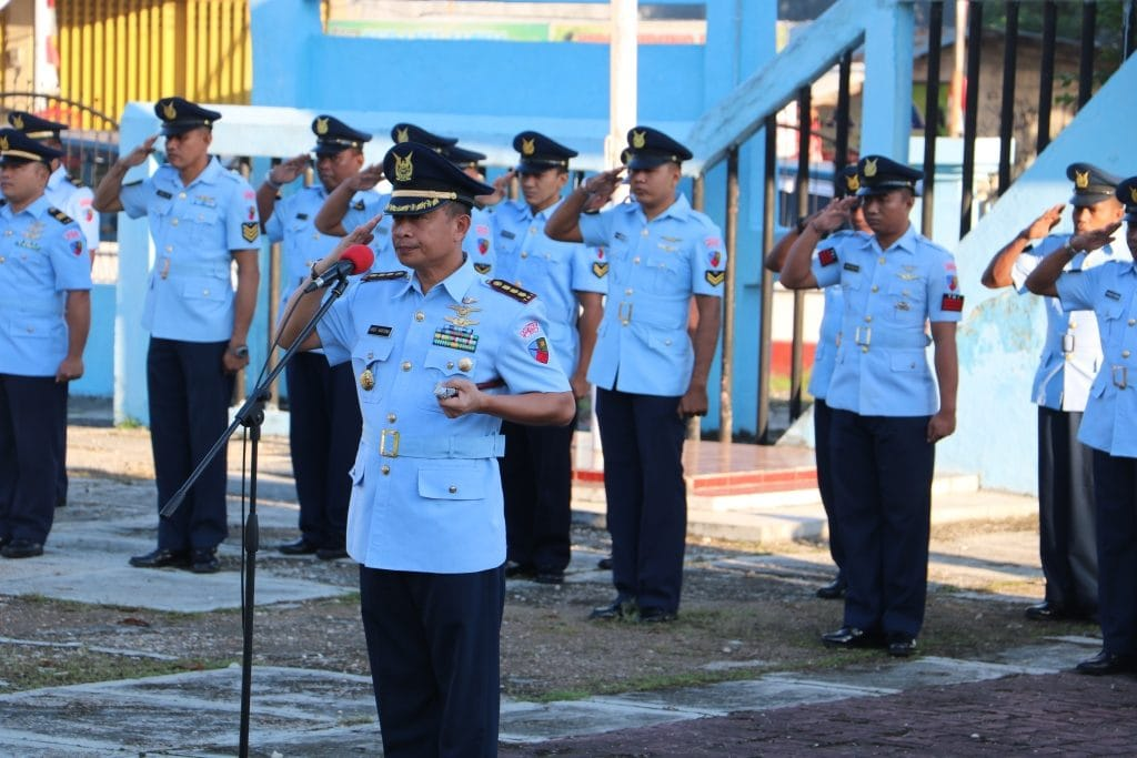 Sambut HUT ke-73 TNI AU, Lanud Eli Laksanakan Ziarah
