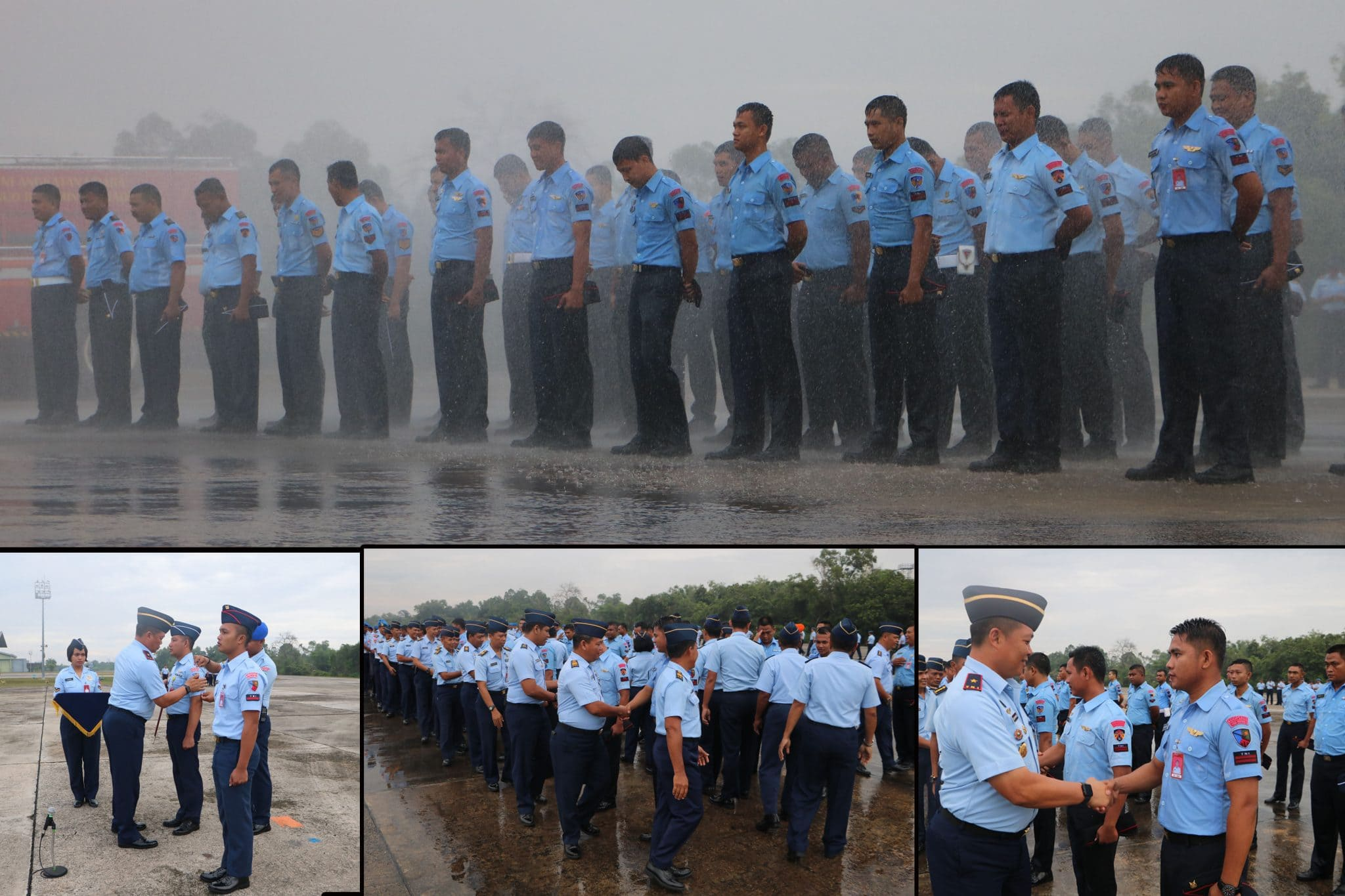 70 Personel Lanud Rsn dan Yonko 462 Paskhas ikuti Tradisi Naik Pangkat