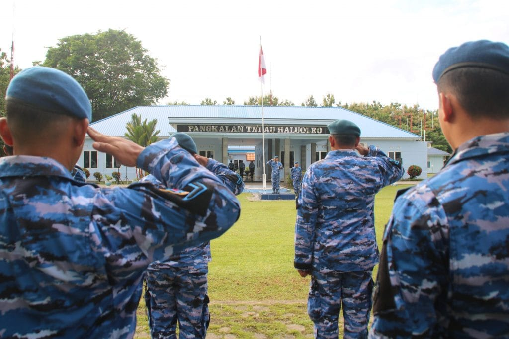 Upacara Bendera 18 April 2019 di Lanud Haluoleo