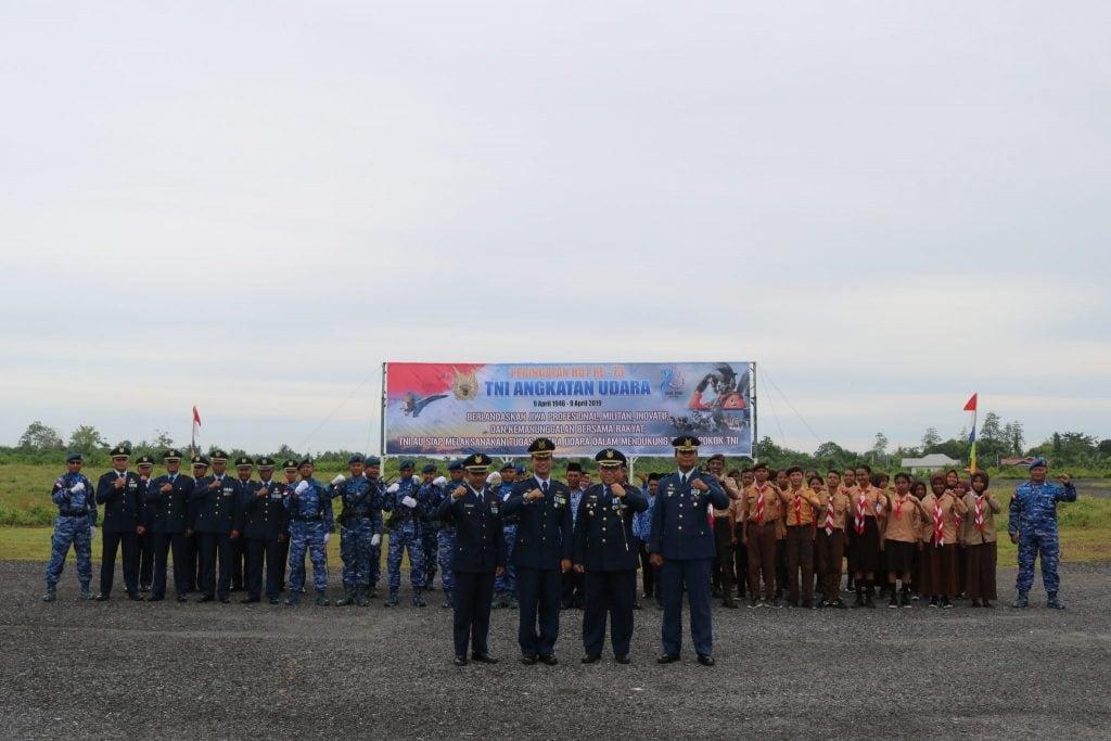 Upacara Peringatan HUT ke 73 TNI AU Tahun 2019 di Lanud D. Dumatubun