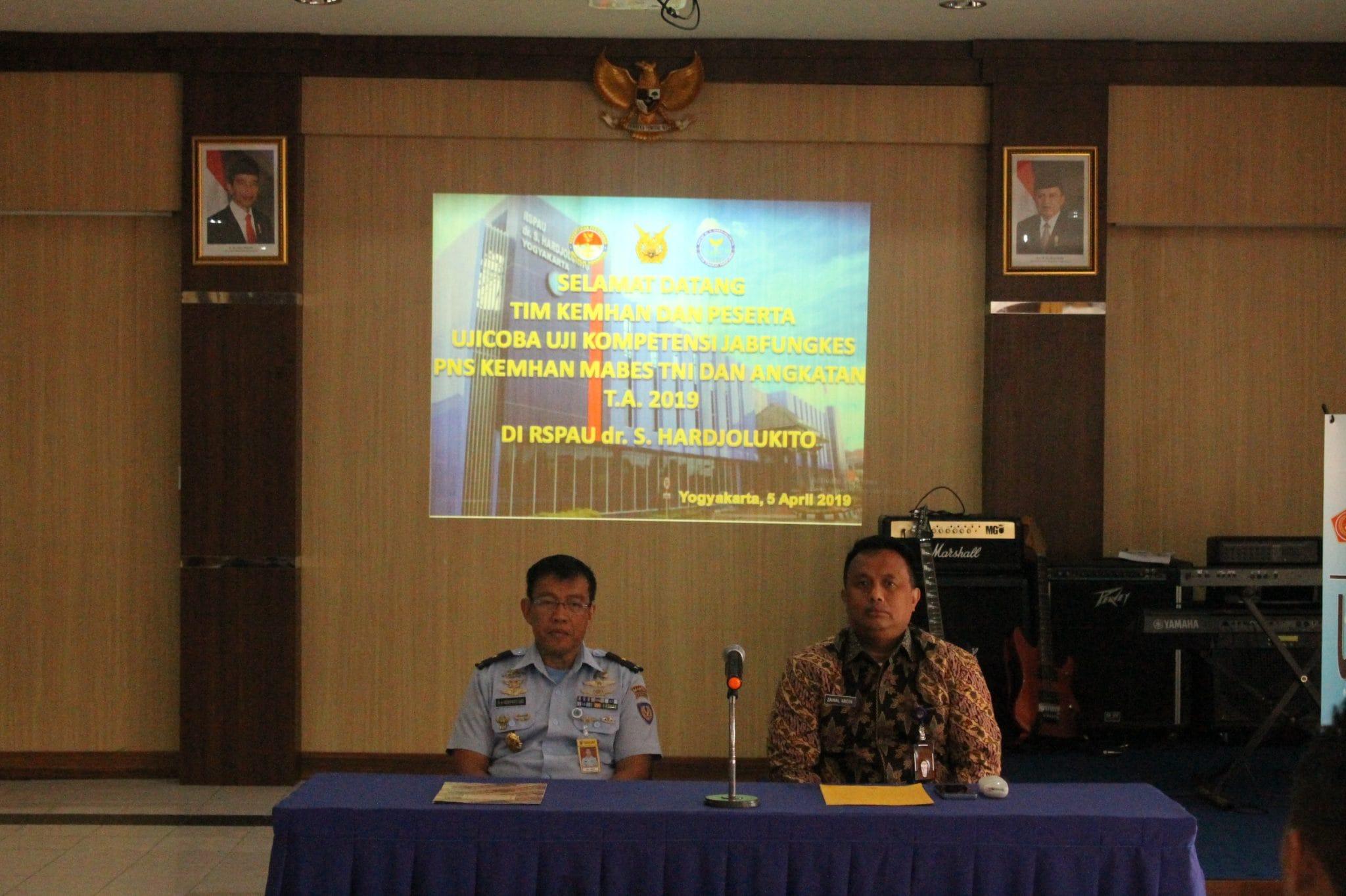 Uji Coba Kompetensi Jabatan Fungsional Kesehatan di RSPAU Dr. S. Hardjolukito