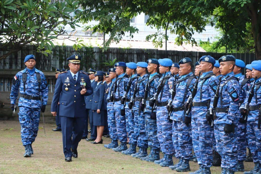 Lanud I Gusti Ngurah Gelar Upacara Peringati HUT Ke-73 TNI AU