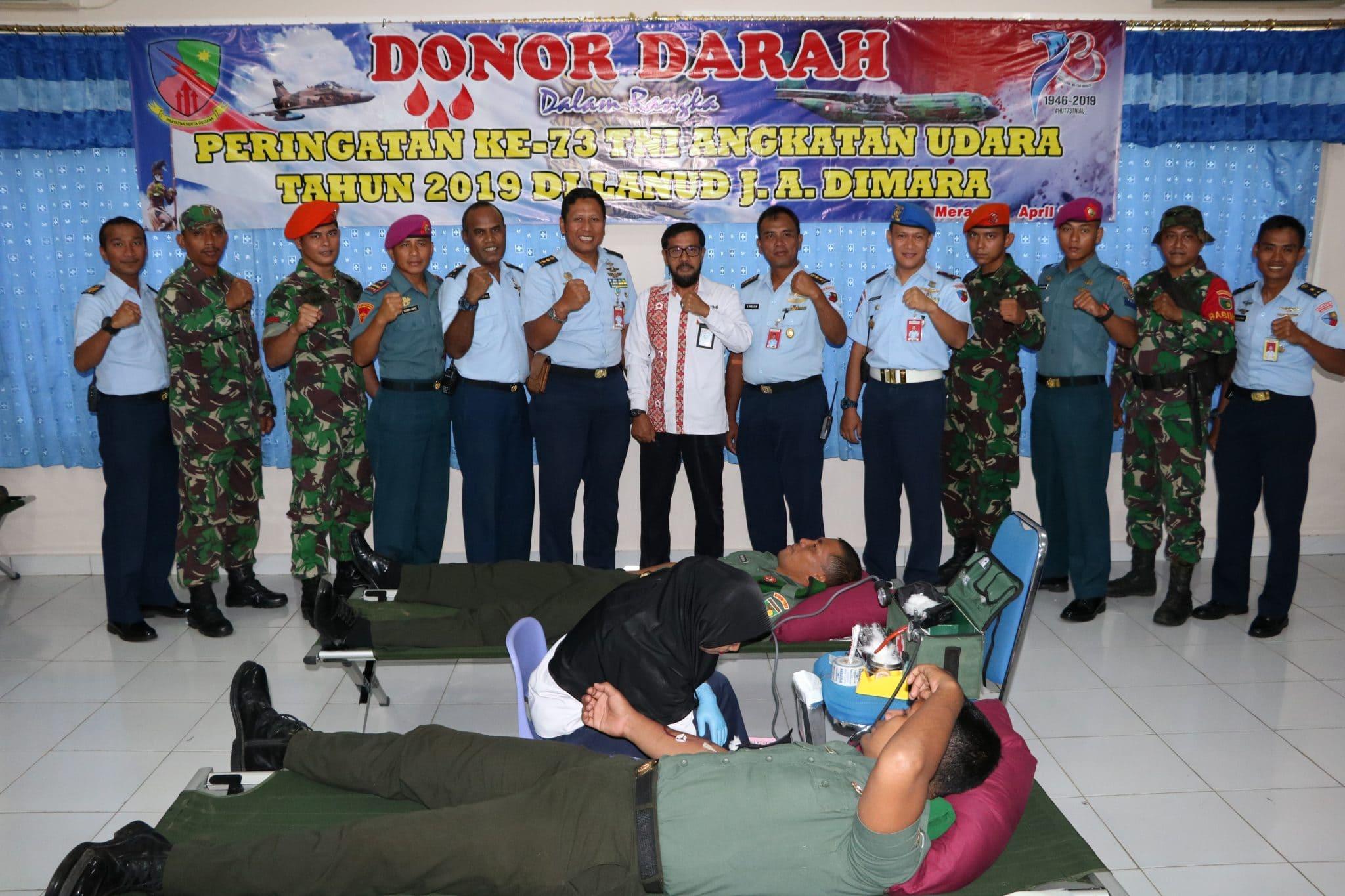 Lanud J. A. Dimara Laksanakan Donor Darah