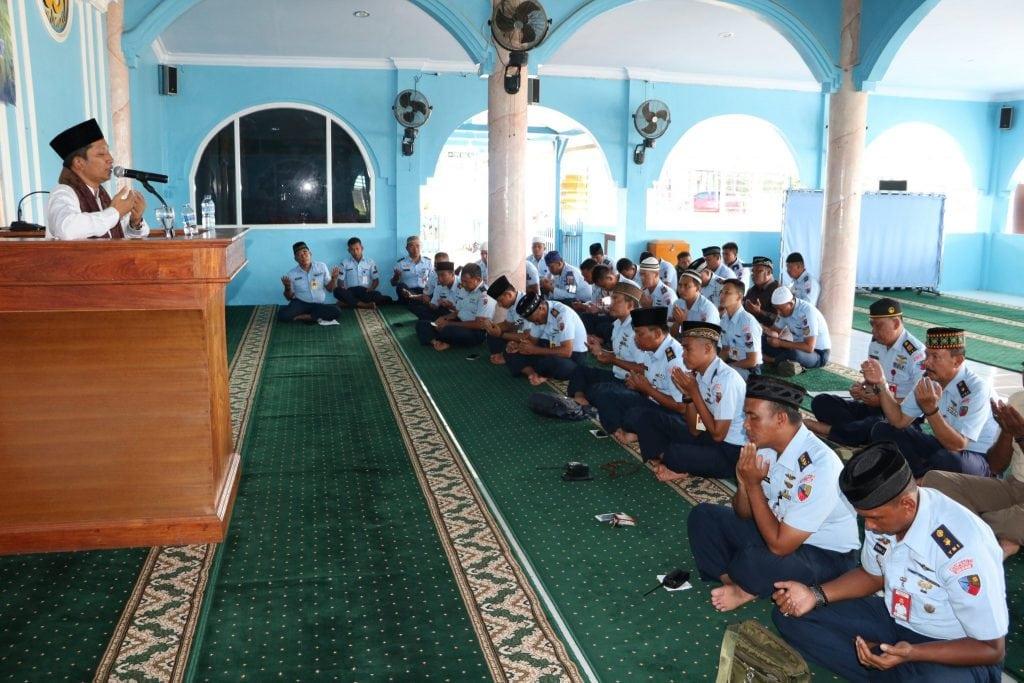 Lanud J.A.Dimara Gelar Peringatan Isra Mi'raj Nabi Muhammad SAW 1440 H dan Doa Bersama