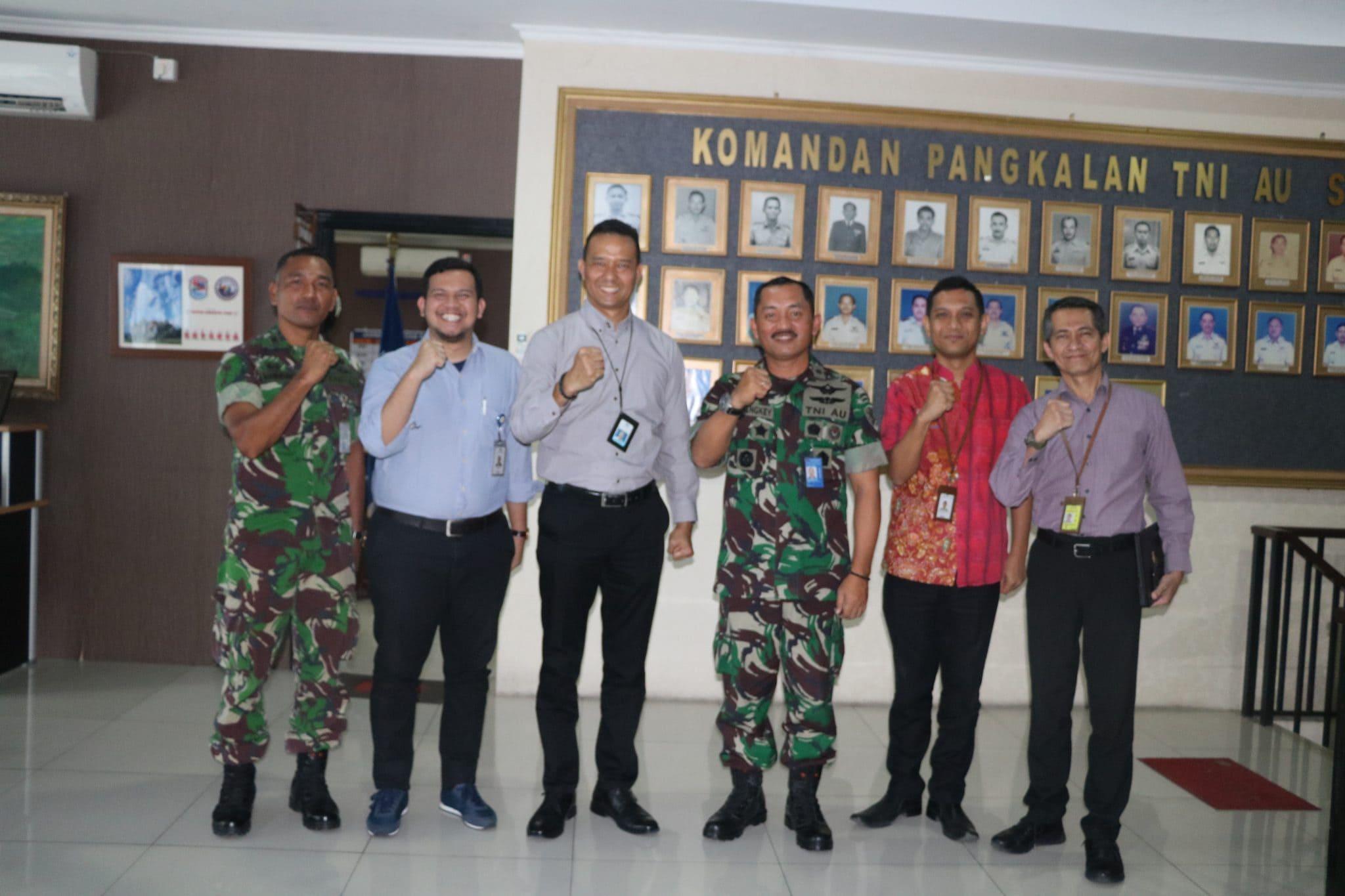 Danlanud Soewondo Terima Audiensi PT Garuda Indonesia