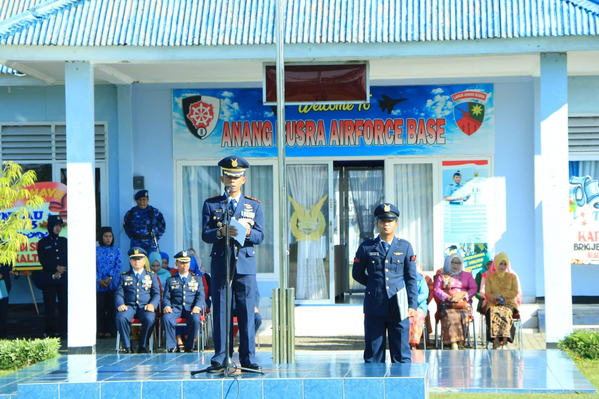 Lanud Anang Busra Selenggarakan Upacara HUT ke-73 TNI AU