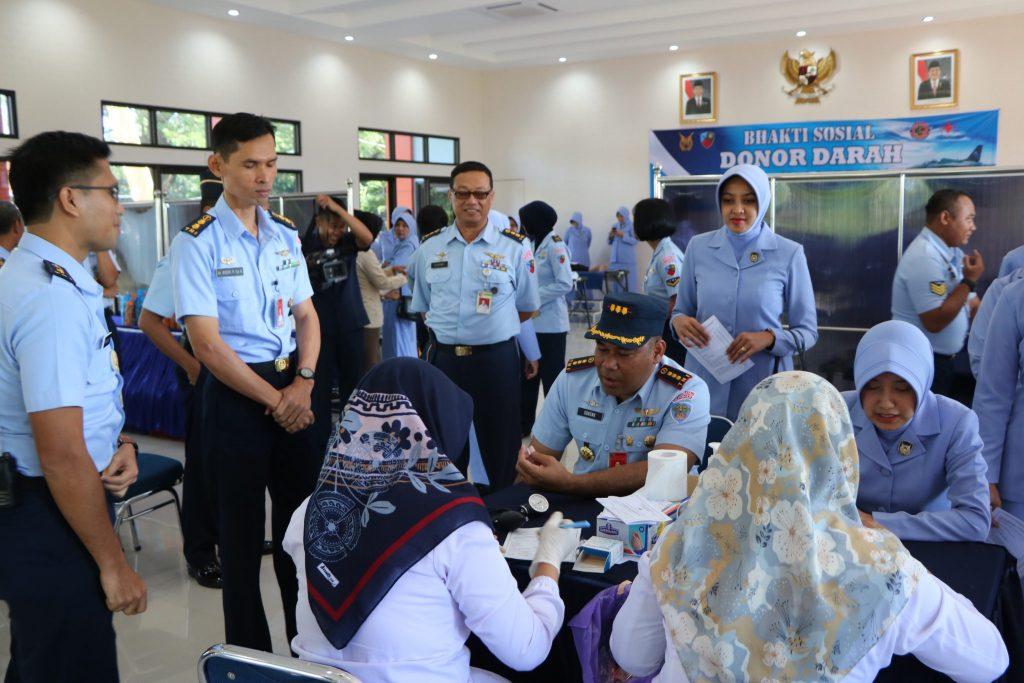 Jelang HUT TNI AU ke-73, RSAU dr. Efram Harsana, gelar Aksi Kemanusiaan kumpulkan 250 kantong darah