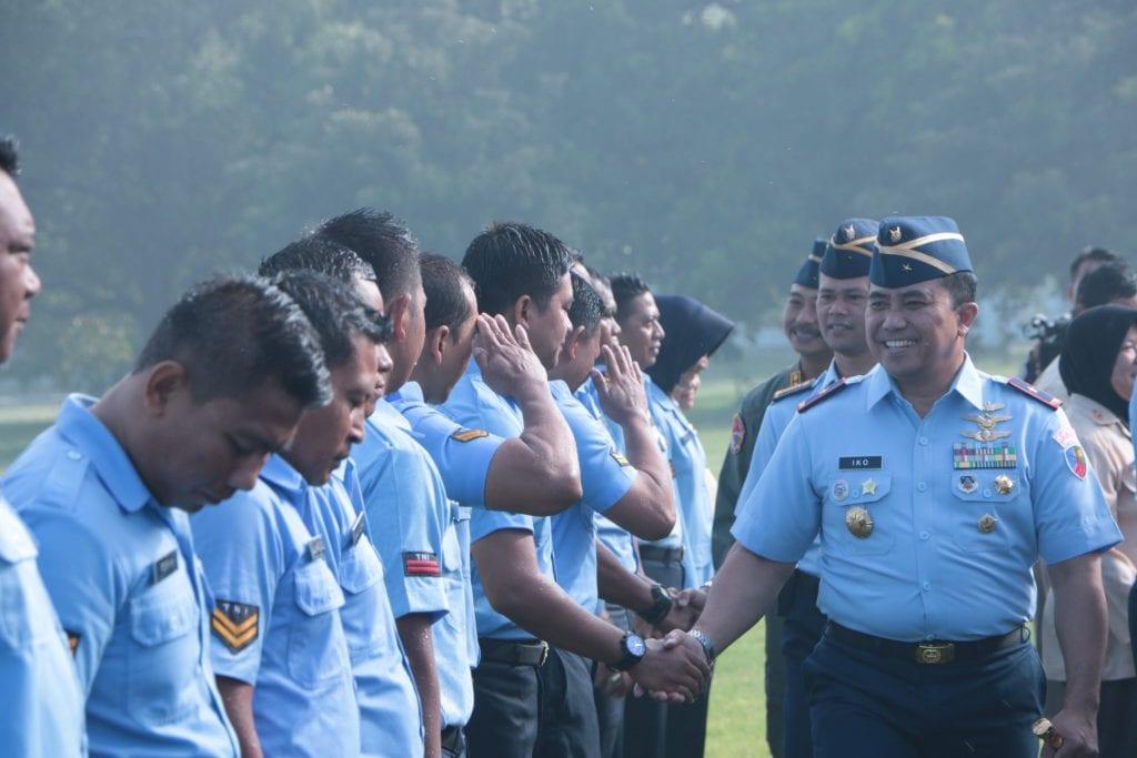 125 Orang Personel Lanud Iswahjudi, Sandang Pangkat Baru