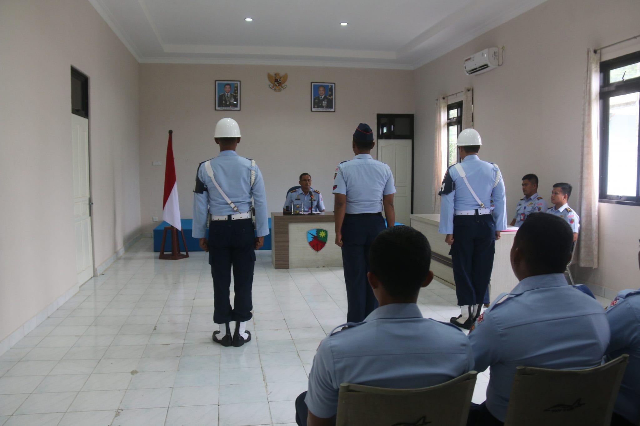 Melanggar Disiplin, Personel Lanud RHF Diganjar Hukuman