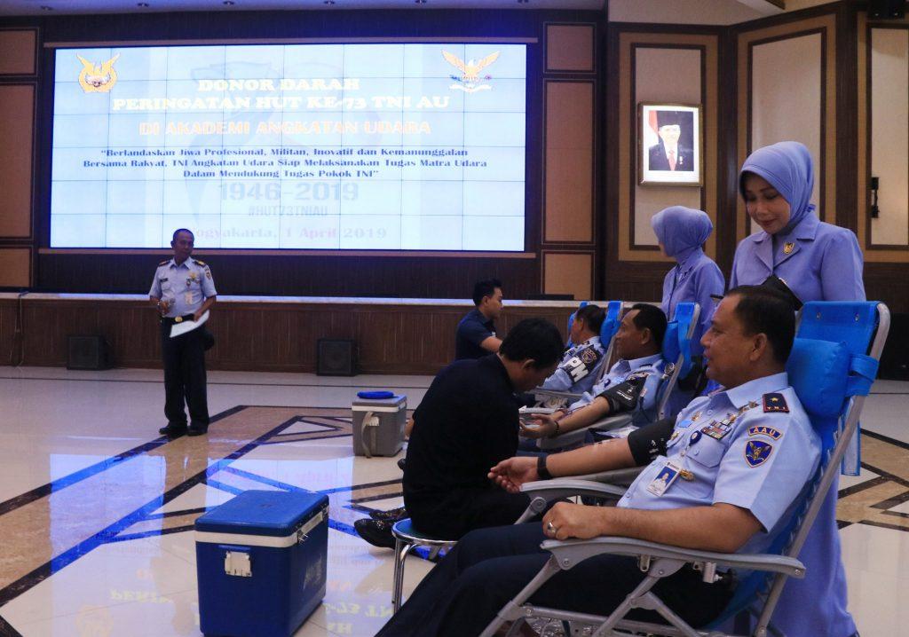 Peringati HUT ke- 73 TNI AU, AAU Gelar Baksos Donor Darah