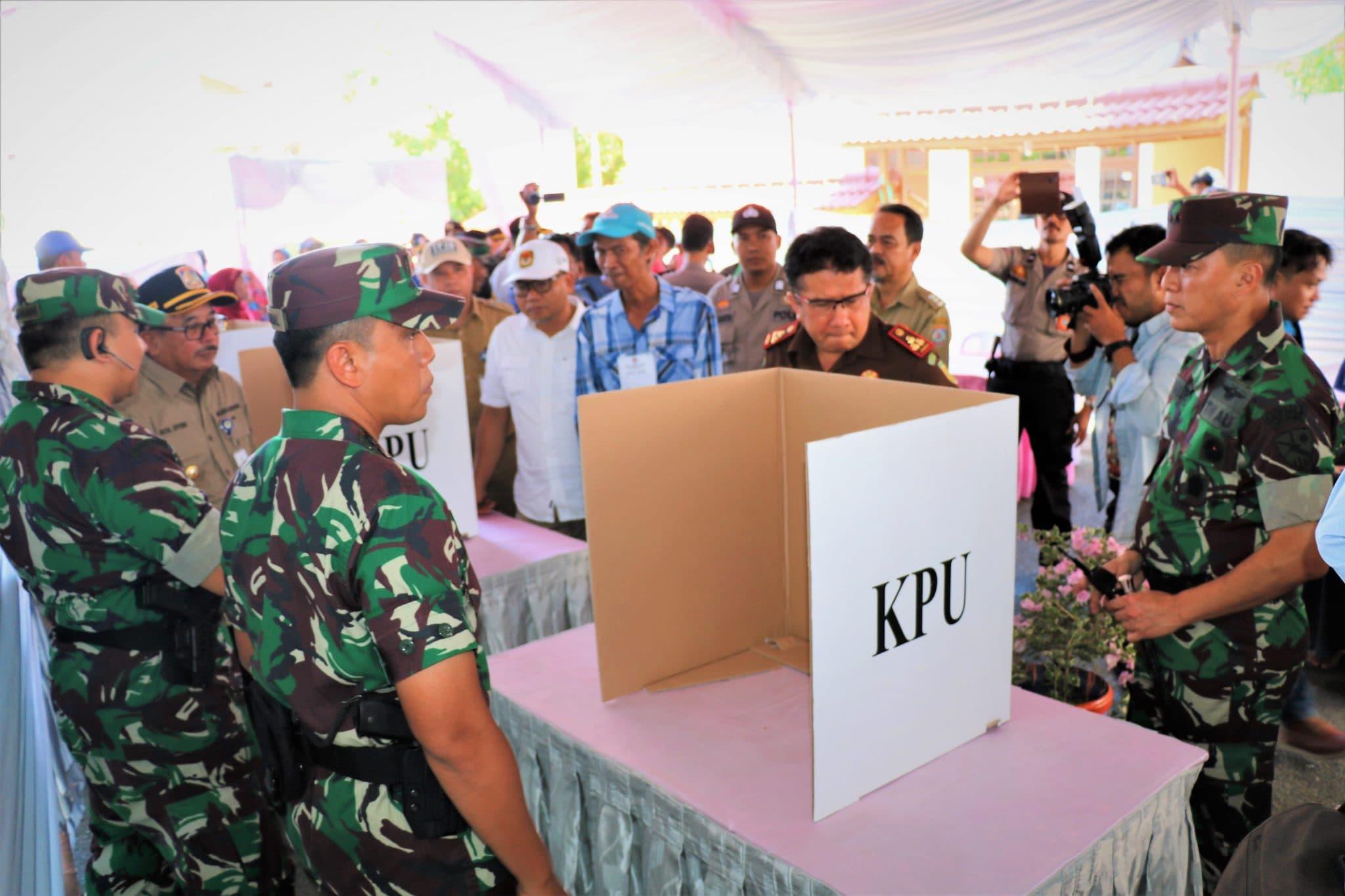 Unsur Muspida Kota Balikpapan Cek Kesiapan TPS Pemilu 2019