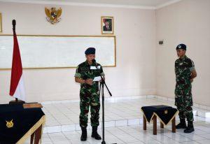 Komandan Lanud Dhomber Pimpin Sertijab Kadisops dan Komandan Satuan Polisi Militer