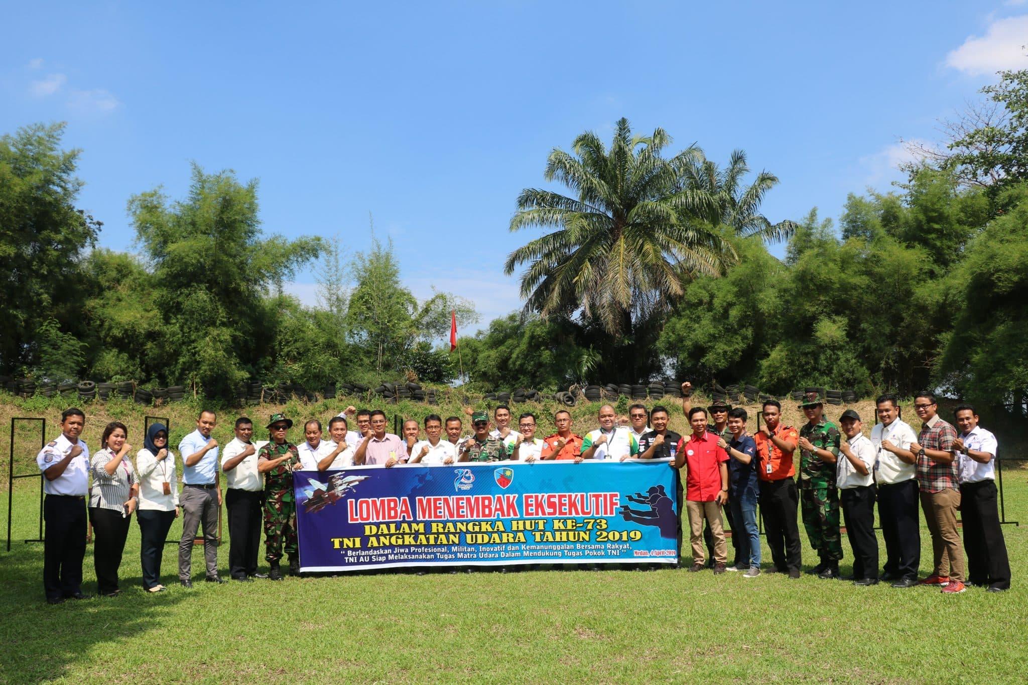 Sambut HUT ke-73 TNI AU, Lanud Soewondo Laksanakan Lomba Tembak Eksekutif