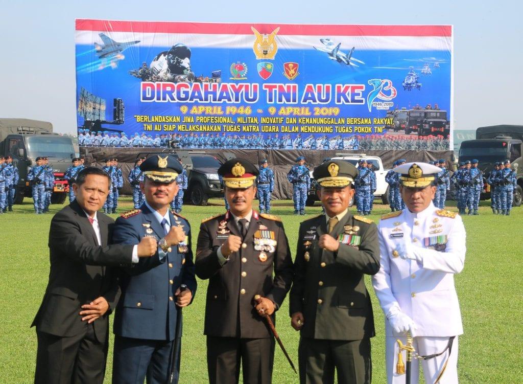 Danlanud Soewondo sebagai Irup Peringatan HUT ke-73 TNI AU di Wilayah Medan