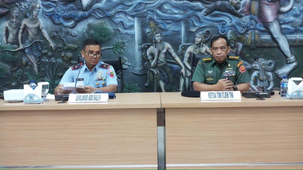 Lanud Abd Saleh Terima Kunjungan Kerja Tim Sosialisasi Itjen TNI
