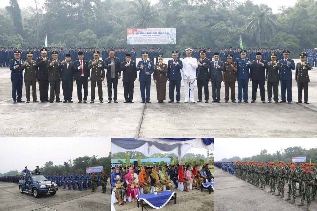 Lanud Roesmin Nurjadin Peringati HUT Ke-73 TNI AU Secara Sederhana