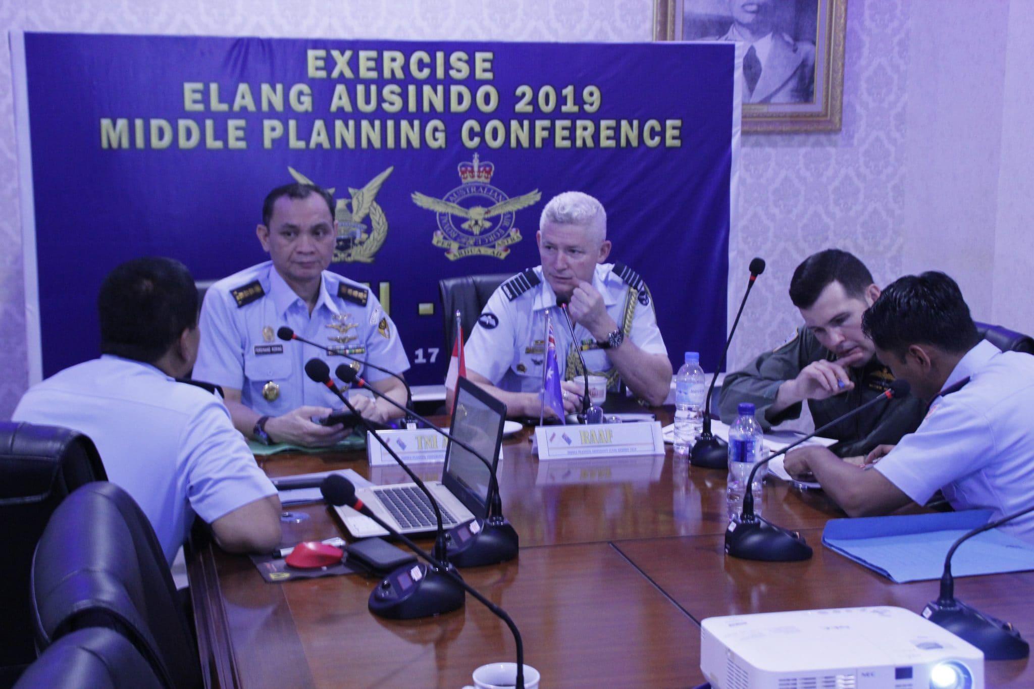 Rapat Tim Excercise Elang Ausindo Tahun 2019 di Lanud Sam Ratulangi