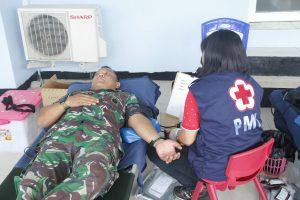 Donor Darah Dalam Rangka HUT TNI AU Ke 73 di Lanud Sam Ratulangi