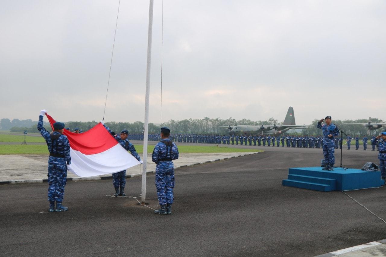 Upacara Bendera di Lanud Abd Saleh