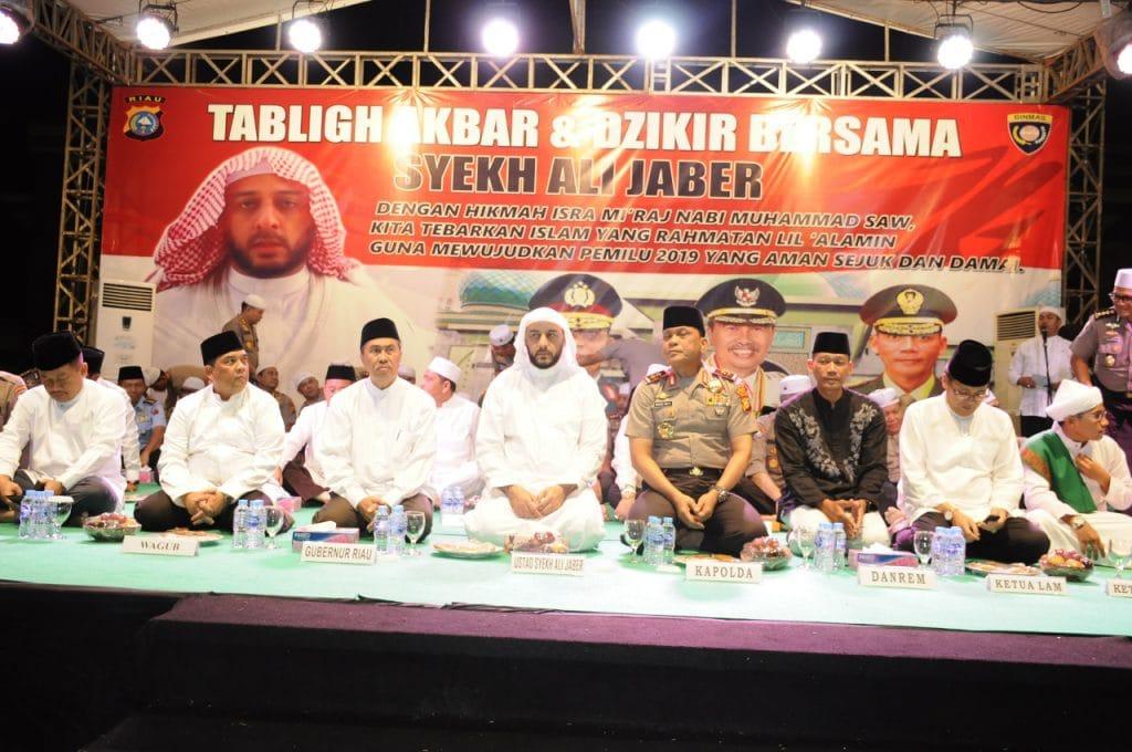 Personel Lanud Rsn hadiri Tabligh Akbar dan Doa Bersama di Mesjid An-nur