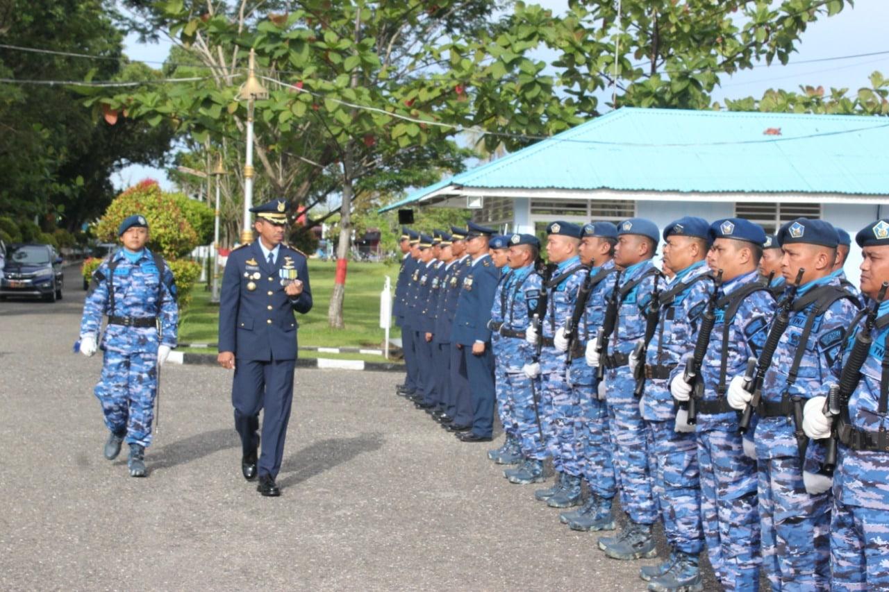 Komandan Lanud Sutan Sjahrir Pimpin Upacara HUT TNI AU KE-73 Secara Sederhana
